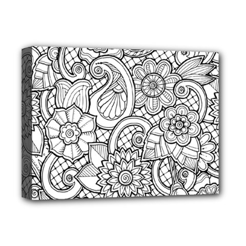 These Flowers Need Colour! Deluxe Canvas 16  X 12