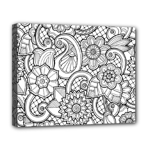 These Flowers Need Colour! Deluxe Canvas 20  x 16