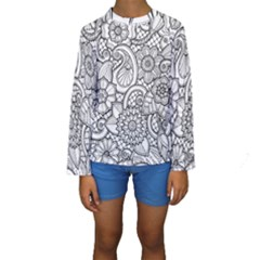 These Flowers Need Colour! Kids  Long Sleeve Swimwear