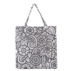 These Flowers Need Colour! Grocery Tote Bag