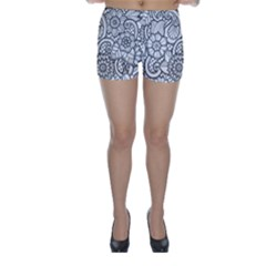 These Flowers Need Colour! Skinny Shorts