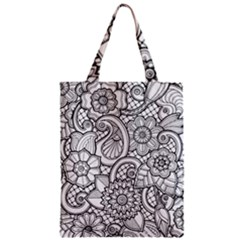These Flowers Need Colour! Zipper Classic Tote Bag