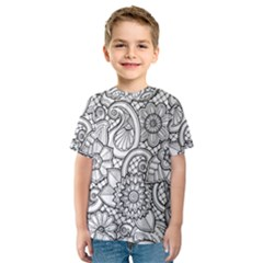 These Flowers Need Colour! Kids  Sport Mesh Tee