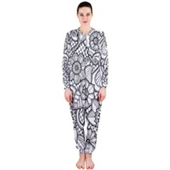 These Flowers Need Colour! OnePiece Jumpsuit (Ladies)