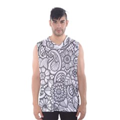 These Flowers Need Colour! Men s Basketball Tank Top