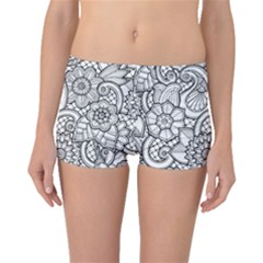 These Flowers Need Colour! Boyleg Bikini Bottoms