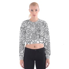 These Flowers Need Colour! Women s Cropped Sweatshirt