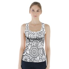 These Flowers Need Colour! Racer Back Sports Top