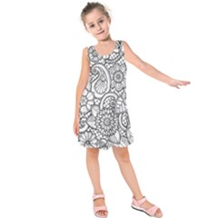 These Flowers Need Colour! Kids  Sleeveless Dress
