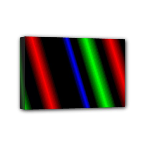 Multi Color Neon Background Mini Canvas 6  X 4