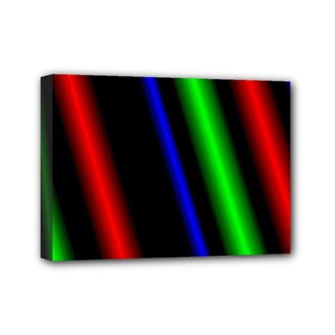 Multi Color Neon Background Mini Canvas 7  x 5