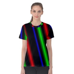 Multi Color Neon Background Women s Cotton Tee