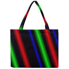 Multi Color Neon Background Mini Tote Bag
