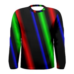 Multi Color Neon Background Men s Long Sleeve Tee