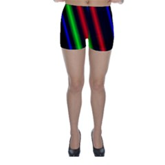 Multi Color Neon Background Skinny Shorts