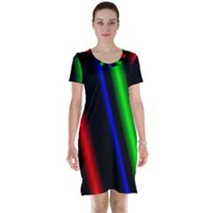 Multi Color Neon Background Short Sleeve Nightdress