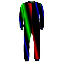 Multi Color Neon Background OnePiece Jumpsuit (Men)