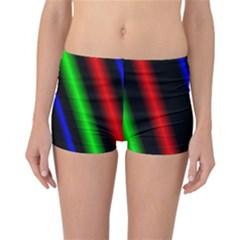 Multi Color Neon Background Reversible Bikini Bottoms