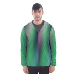 Course Gradient Color Pattern Hooded Wind Breaker (men)