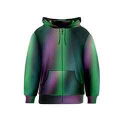 Course Gradient Color Pattern Kids  Zipper Hoodie