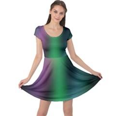 Course Gradient Color Pattern Cap Sleeve Dresses