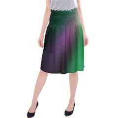 Course Gradient Color Pattern Midi Beach Skirt