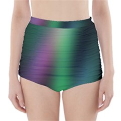 Course Gradient Color Pattern High Waisted Bikini Bottoms