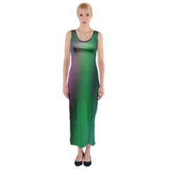 Course Gradient Color Pattern Fitted Maxi Dress