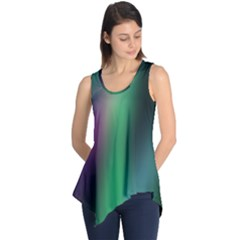Course Gradient Color Pattern Sleeveless Tunic