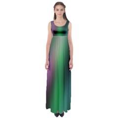 Course Gradient Color Pattern Empire Waist Maxi Dress