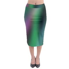 Course Gradient Color Pattern Midi Pencil Skirt