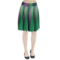 Course Gradient Color Pattern Pleated Skirt
