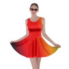 Multi Color Pattern Background Skater Dress
