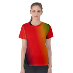 Multi Color Pattern Background Women s Cotton Tee