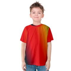 Multi Color Pattern Background Kids  Cotton Tee