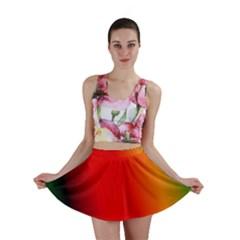 Multi Color Pattern Background Mini Skirt