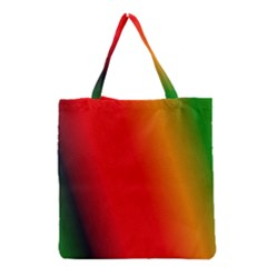 Multi Color Pattern Background Grocery Tote Bag