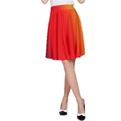 Multi Color Pattern Background A Line Skirt