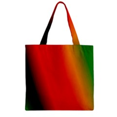 Multi Color Pattern Background Zipper Grocery Tote Bag