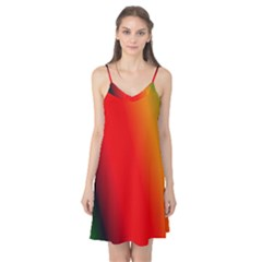 Multi Color Pattern Background Camis Nightgown