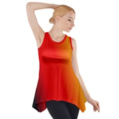 Multi Color Pattern Background Side Drop Tank Tunic