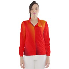 Multi Color Pattern Background Wind Breaker (women)