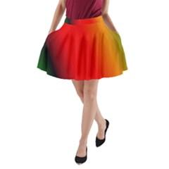 Multi Color Pattern Background A Line Pocket Skirt