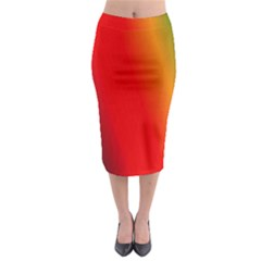 Multi Color Pattern Background Midi Pencil Skirt