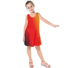 Multi Color Pattern Background Kids  Sleeveless Dress