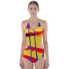 Graphic Design Graphic Design Cut-Out One Piece Swimsuit