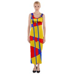 Graphic Design Graphic Design Fitted Maxi Dress