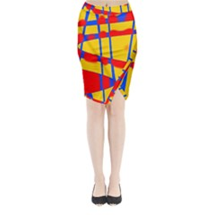 Graphic Design Graphic Design Midi Wrap Pencil Skirt