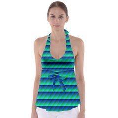 Background Texture Structure Color Babydoll Tankini Top