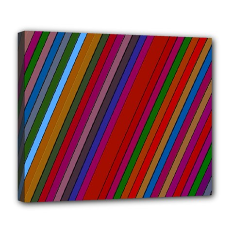 Color Stripes Pattern Deluxe Canvas 24  x 20